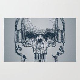 Skull Music Line Rug
