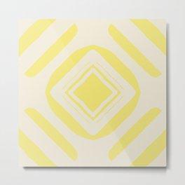 Medallion Lemon Verbena & Sweet Corn Metal Print