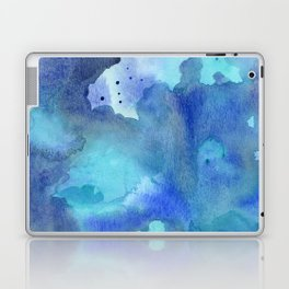 Blue Abstract Watercolor Painting Laptop & iPad Skin