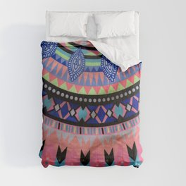 colorfull mandala art Comforters