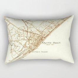 Vintage Map of Myrtle Beach South Carolina (1937) Rectangular Pillow