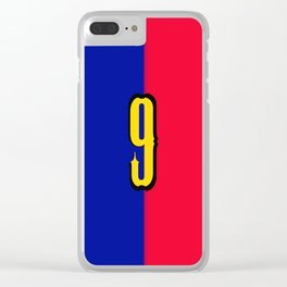 soccer team jersey number nine Clear iPhone Case