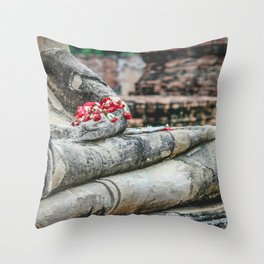 Phuang Malai for the Buddha Throw Pillow