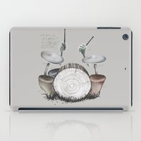 drums iPad Cases featuring Mushroom drums by Anion