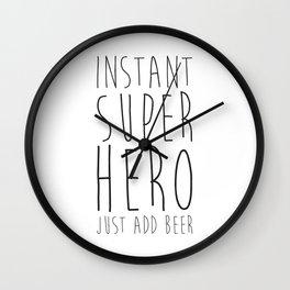 Instant Super Hero Wall Clock