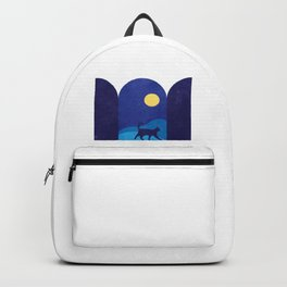 cat_night0612 Backpack