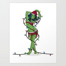 Orion Slave Girl Christmas Art Print