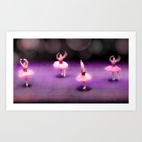 ballet Art Prints featuring Ballet by Tiffany Dawn Smith