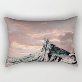 WAVE # 2 - sky Rectangular Pillow