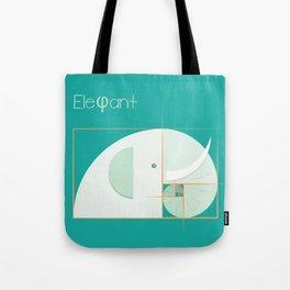 Fibonacci elephant Tote Bag