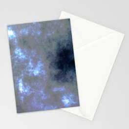 Moon Light-Foggy Night Stationery Cards