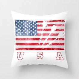 USA Darts - Flag of America Throw Pillow
