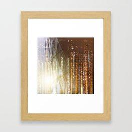 Fire Trees Framed Art Print