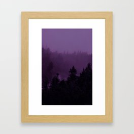 Purple Fog Framed Art Print