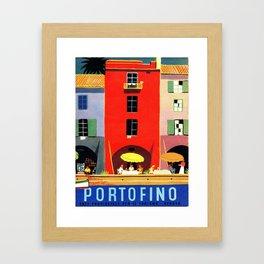 Vintage poster - Portofino Framed Art Print