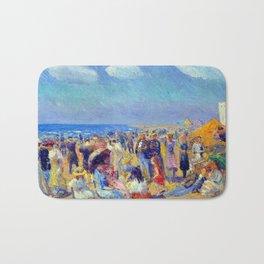 William James Glackens Crowd at the Seashore Bath Mat