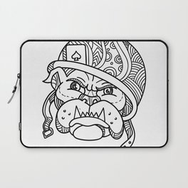Soldier Bulldog Ace of Spade Mono Line Laptop Sleeve