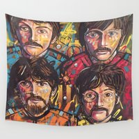 submarine Wall Tapestries featuring Yellow Submarine by somanypossibilities