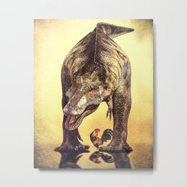 Discussion of Evolution Metal Print