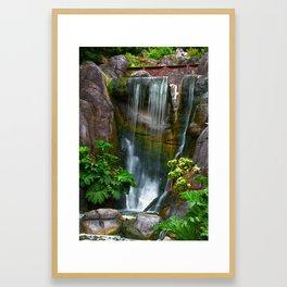 Waterfall in Golden Gate Park Framed Art Print