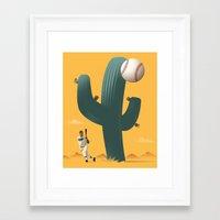 league Framed Art Prints featuring Cactus League by John W. Tomac