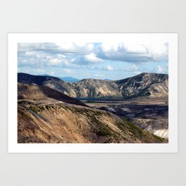Lake and mountain view near Johnston's Ridge, either Coldwater Lake or Clearwater Lake Art Print