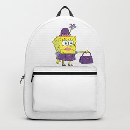 SpongeBob in drag meme Backpack