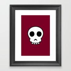 Goofy skull Framed Art Print
