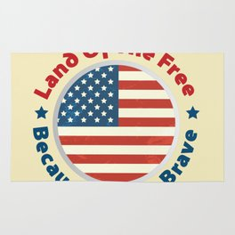 Land of The Free Because of the Brave - Patriot Day - September 11 Rug