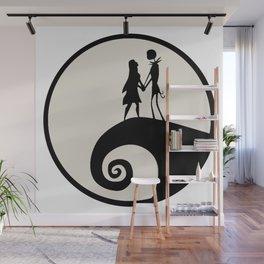 Jack & Sally Silhouette Wall Mural