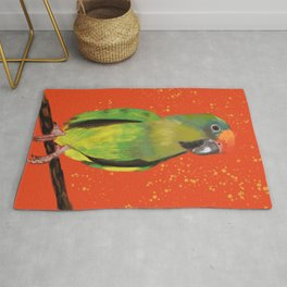 I'll Take a Triscuit #Parrot Painting Rug