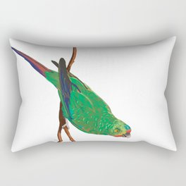 Swift Green Parrot Rectangular Pillow