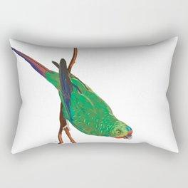 Swift Green Parrot Rectangular Pillow