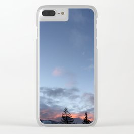 Sunsets and tree-tops Clear iPhone Case