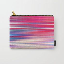 pink abstract with horizontal stripes Carry-All Pouch