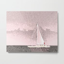 """Sailboat #8"" Art of the Sea by Murray Bolesta Metal Print"