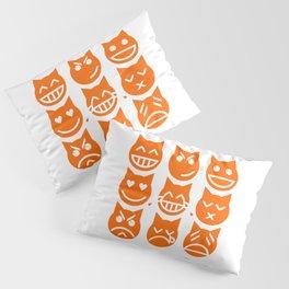 The 9 Lives of the Emoji Cat Pillow Sham