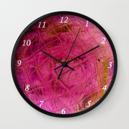 Pink square S47 Wall Clock