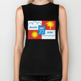 Sochi 2014 flag - Authentic version Biker Tank