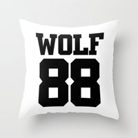 exo Throw Pillows featuring EXO WOLF 88 by Cathy Tan