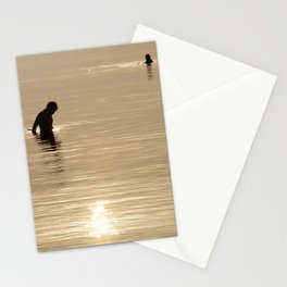 Silhouette of man Stationery Cards