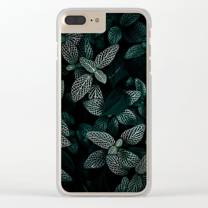 Dark Leaves 3 Clear iPhone Case