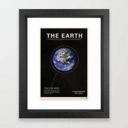 THE EARTH - Space | Time | Science Framed Art Print
