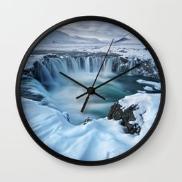 Waterfall Of The Gods Wall Clock