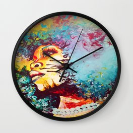 Unstrained Afro Blue Wall Clock