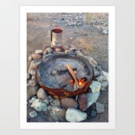 Firepit Art Print