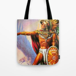 Caballero Aztec Warrior and Eagle Animal Spirit by Jesus Helguera Tote Bag