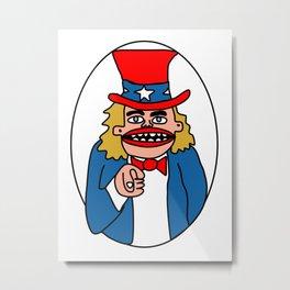 Uncle Sam Metal Print