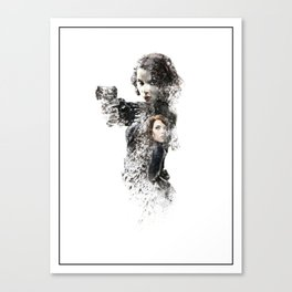 Black Widow Digital Fan Art Ink-Blot Poster Canvas Print