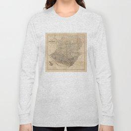 Vintage Map of Guatemala (1859) Long Sleeve T-shirt